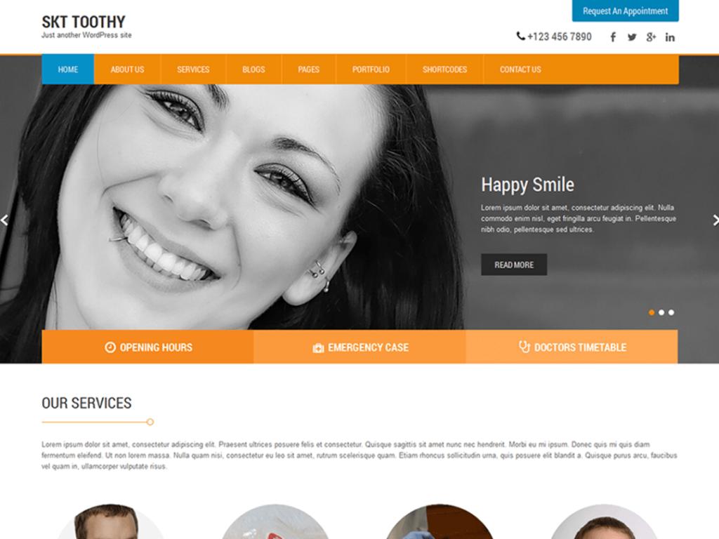 SKT Toothy dentist WordPress themes