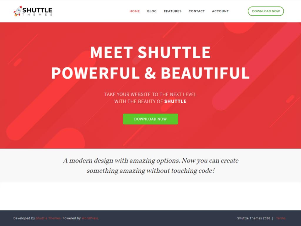 Shuttle Red wordpress theme