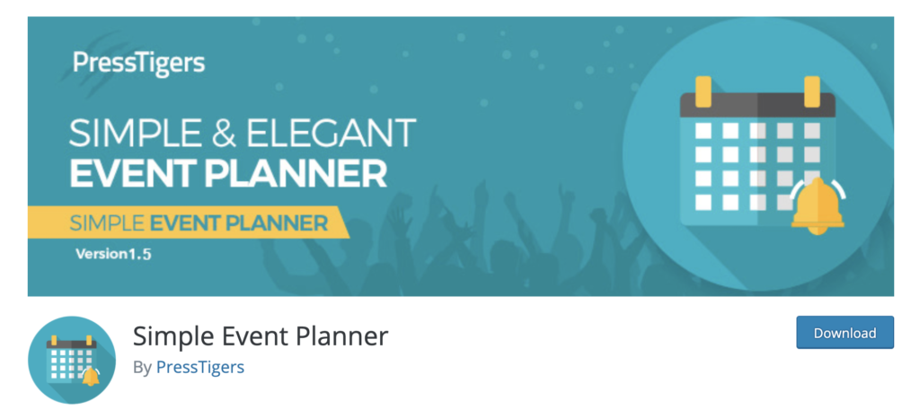 Simple Event Planner - WordPress event calendar plugin