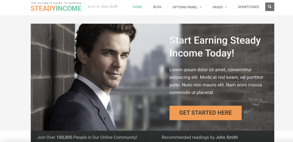SteadyIncome WordPress theme for affiliate marketing