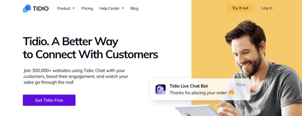 Tidio WordPress live chat plugin