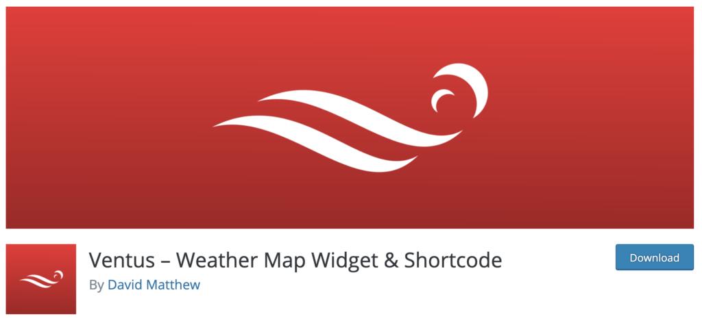 Ventus WordPress weather plugin