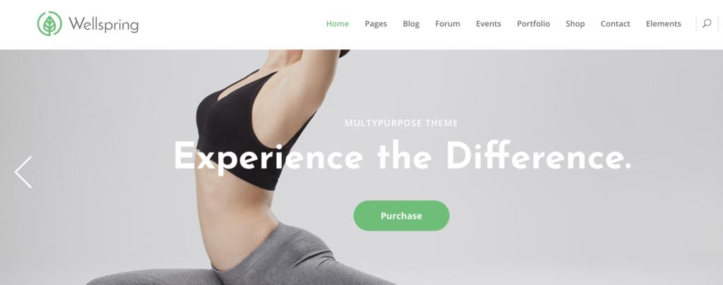 Wellspring yoga WordPress theme