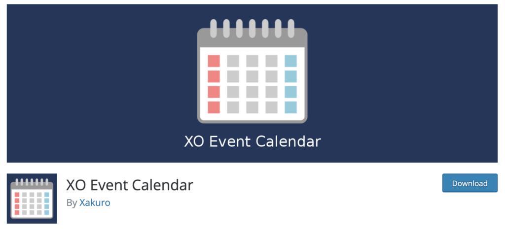 XO Event WordPress event calendar plugin