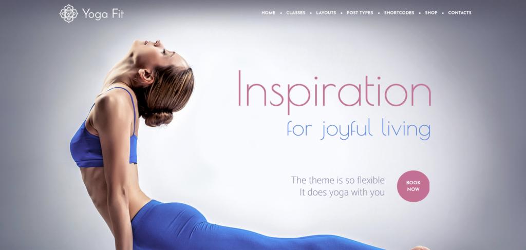 Yoga Fit WordPress theme