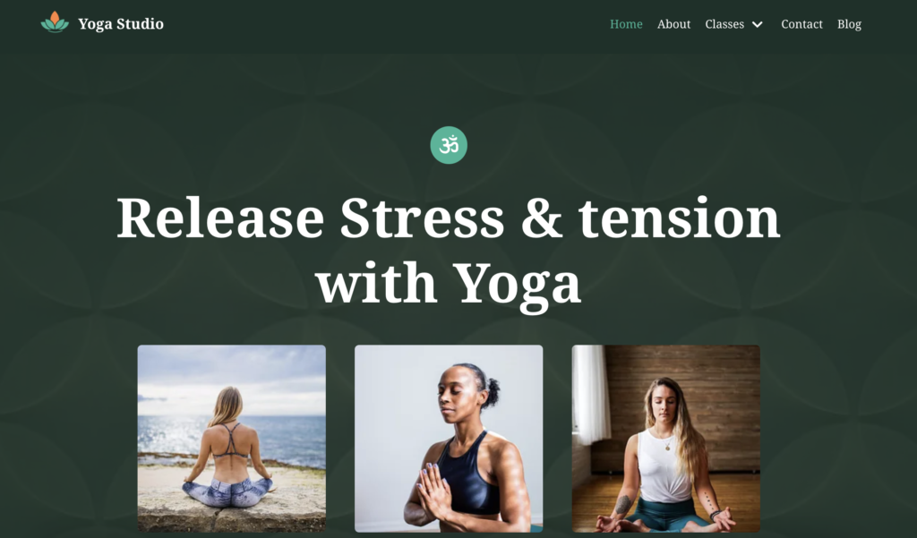 Neve yoga WordPress theme