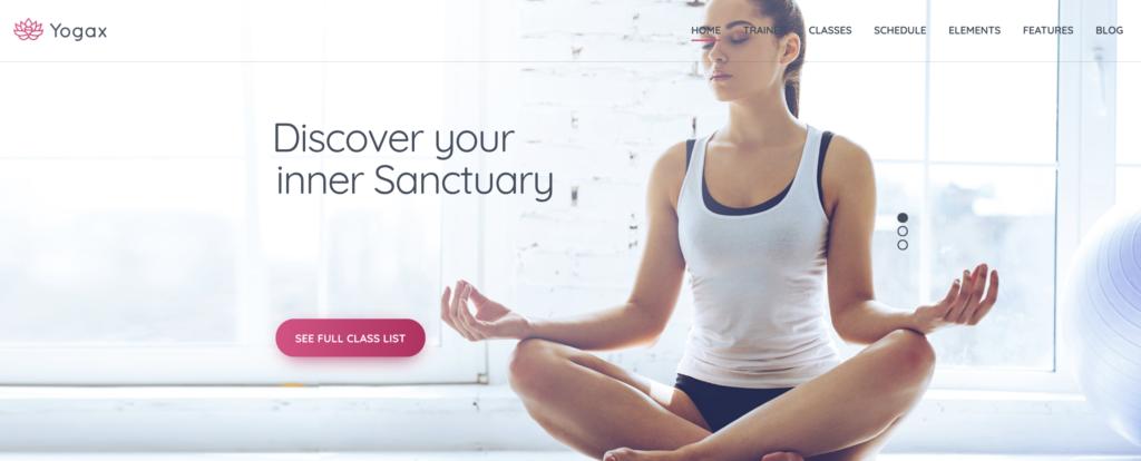 Yoga  X WordPress theme