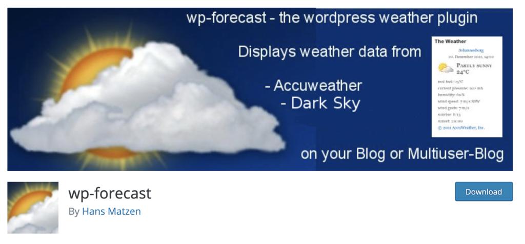 WP-Forecast WordPress weather plugin