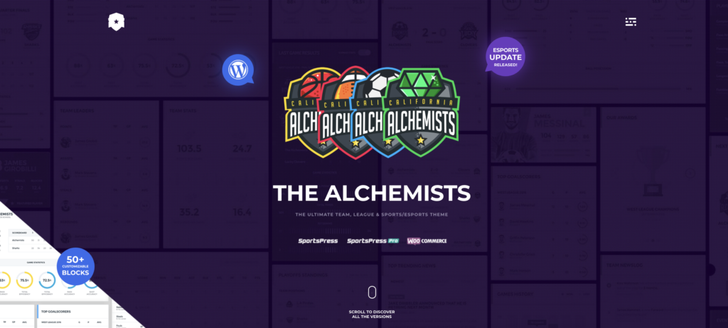 Alchemists wordpress sport themes