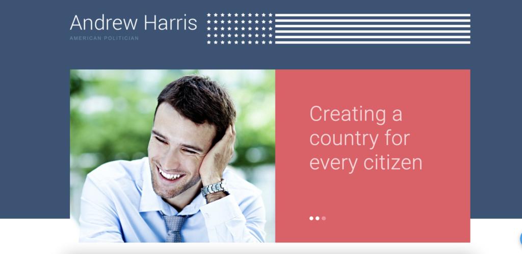 American Politician  political WordPress themes
