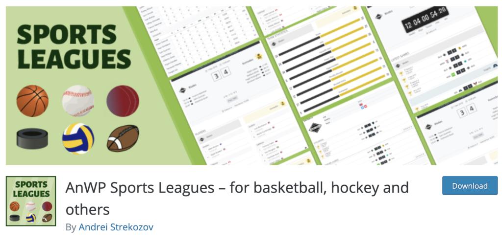 AnWP Sports Leagues WordPress sport plugin