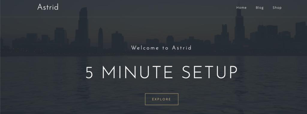 Astrid WordPress personal website theme