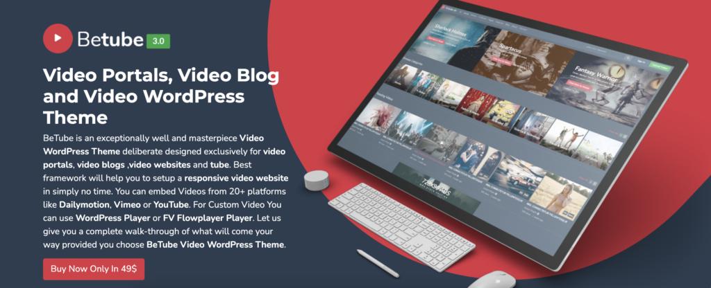 BeTube  WordPress videos theme