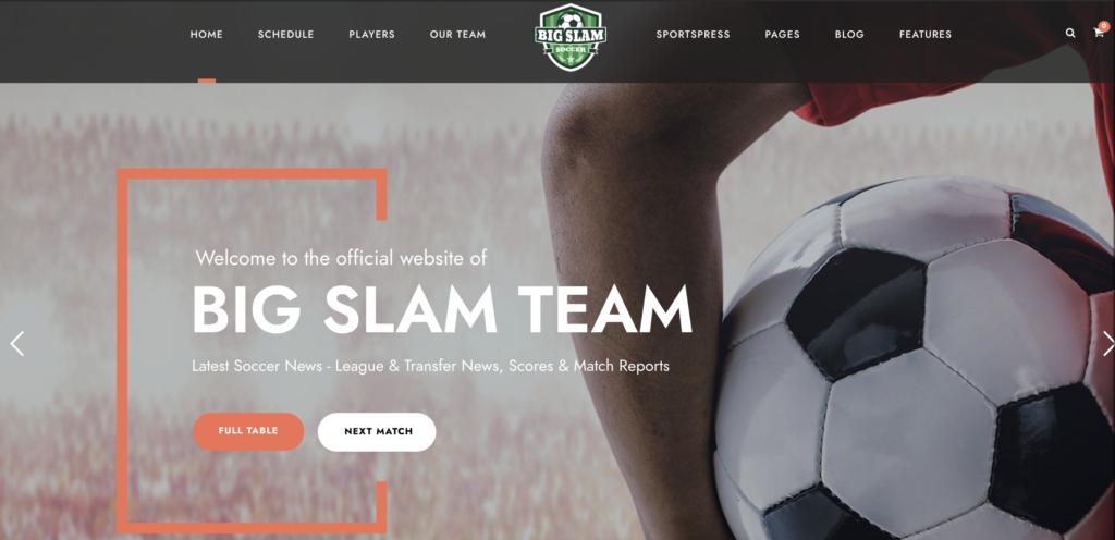 Big Slam wordpress sport themes