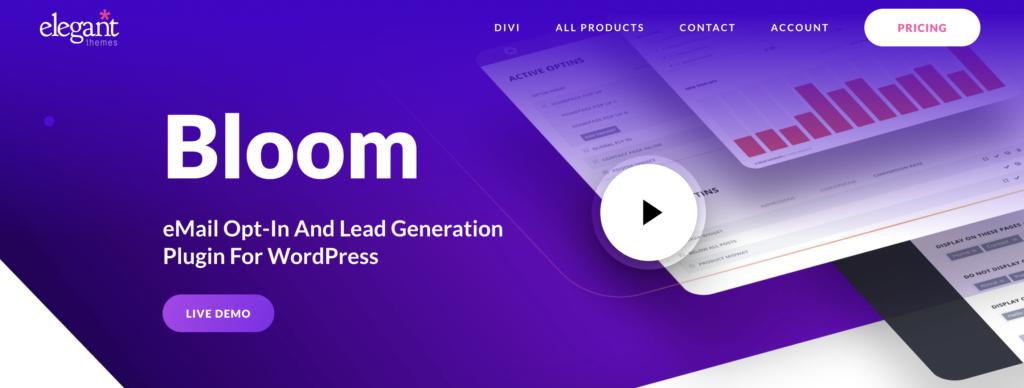 Bloom WordPress newsletters plugin