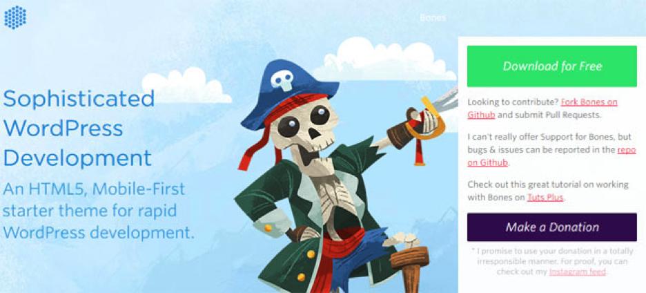 Bones blank WordPress theme