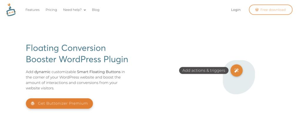 Buttonizer whatsapp plugin for wordpress