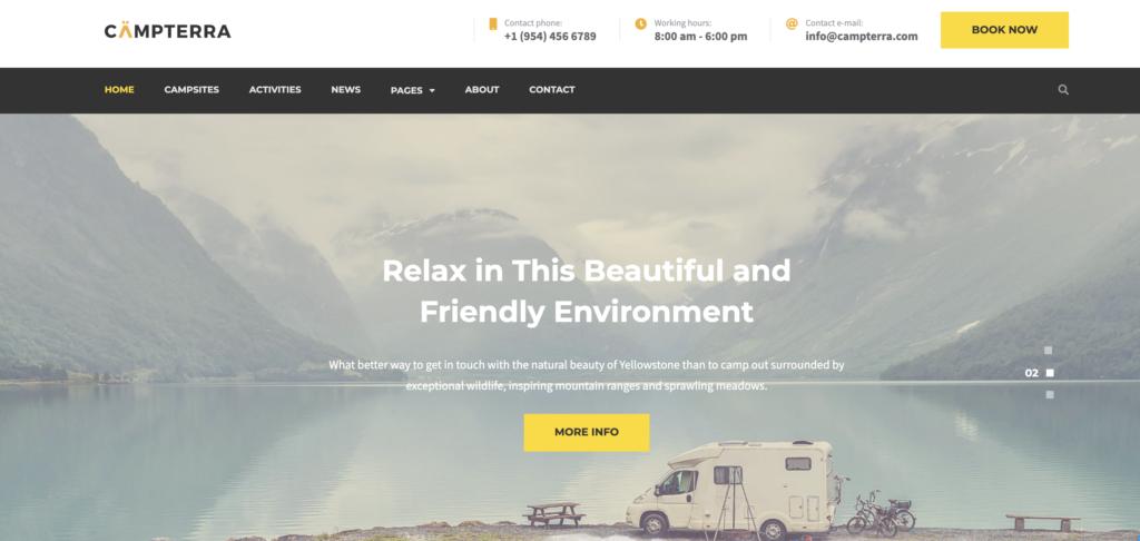 Camping wordpress sport themes