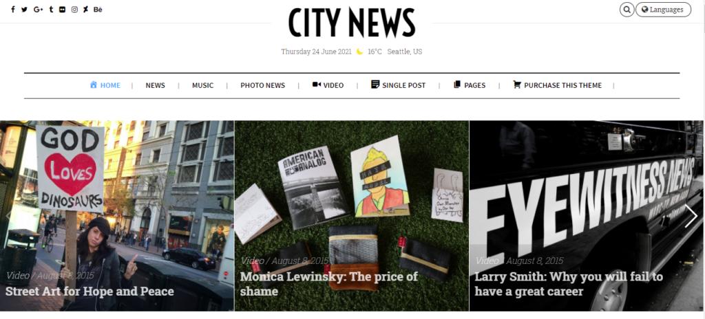 CityNews best WordPress news themes