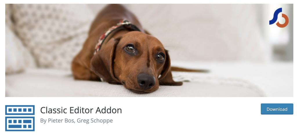 Classic Editor Addon