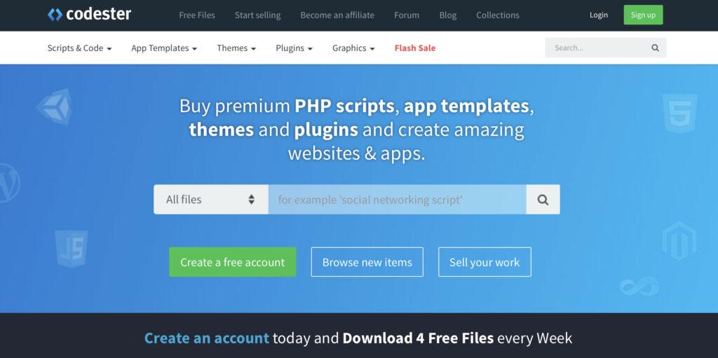 sell WordPress themes on Codester