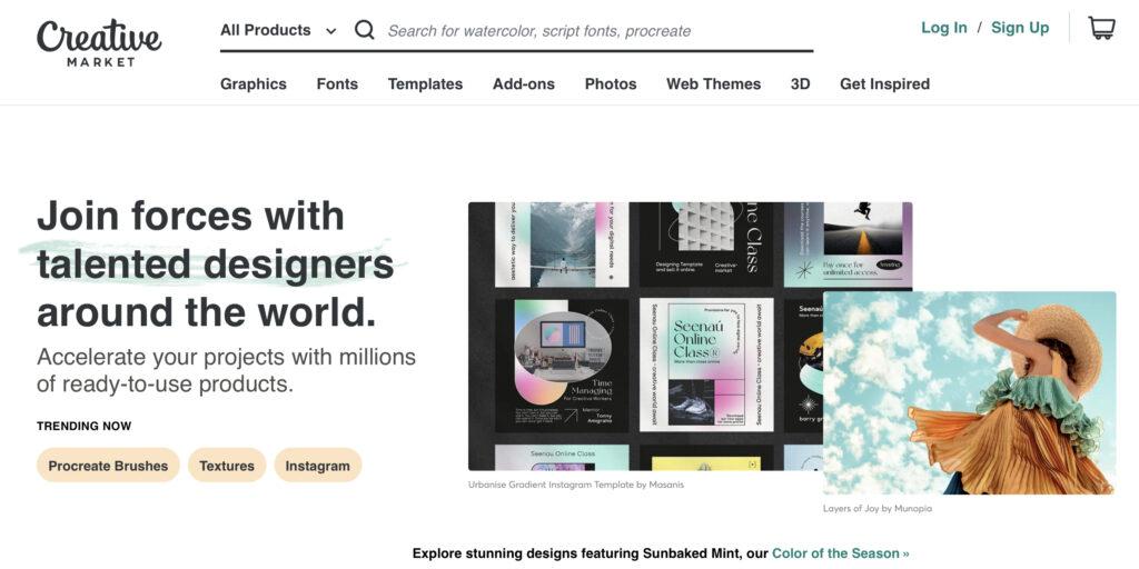 sell wordpress themes on Creative Market