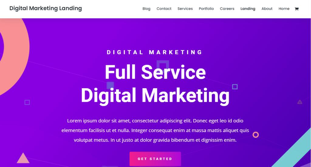 Divi WordPress portfolio theme