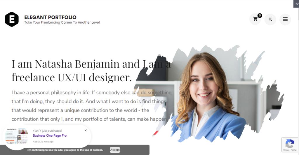 Elegant Portfolio WordPress portfolio themes