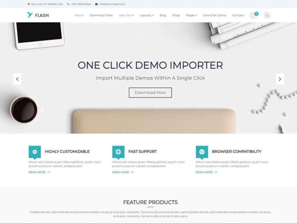 Flash WordPress personal website theme