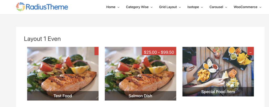 Food Menu - WordPress restaurant menu plugin