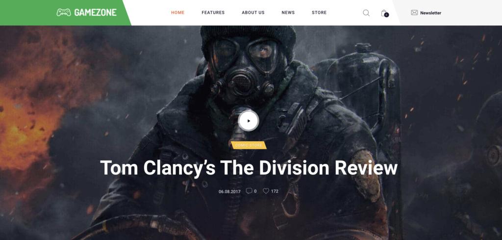 Gamezone WordPress gaming theme