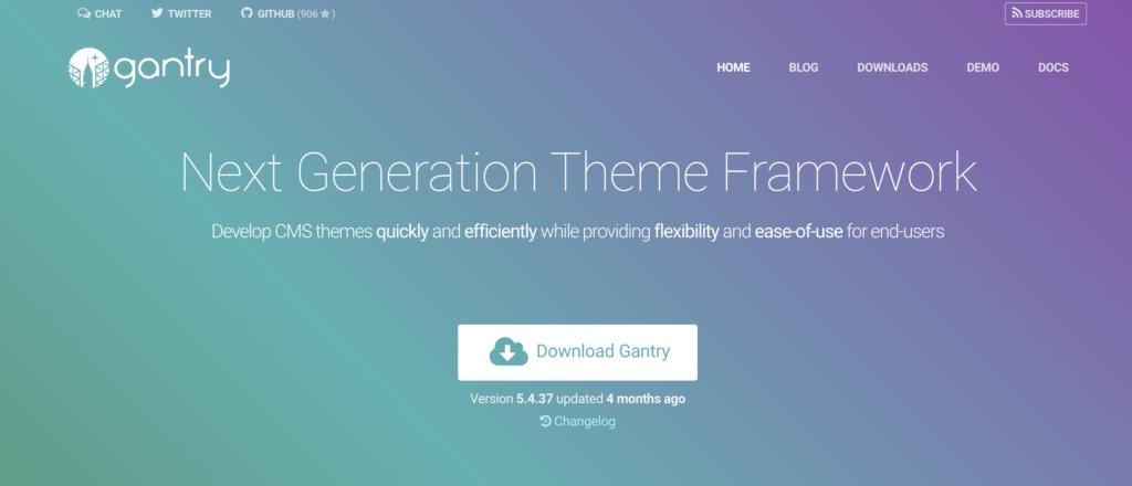 Gantry blank WordPress theme