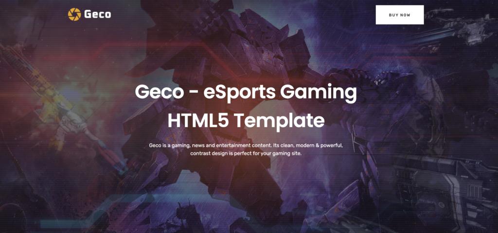 Geco wordpress gaming theme