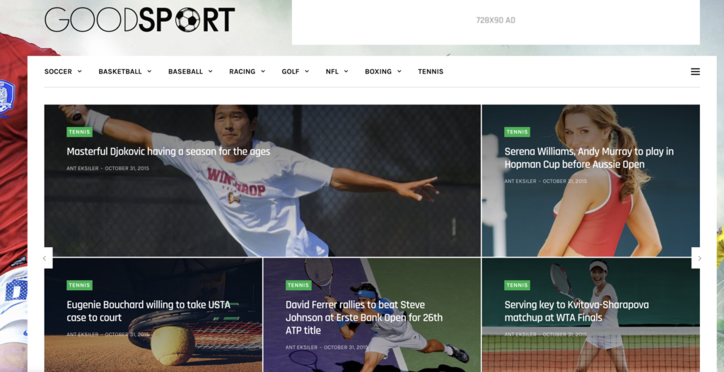 GoodLife wordpress sport themes
