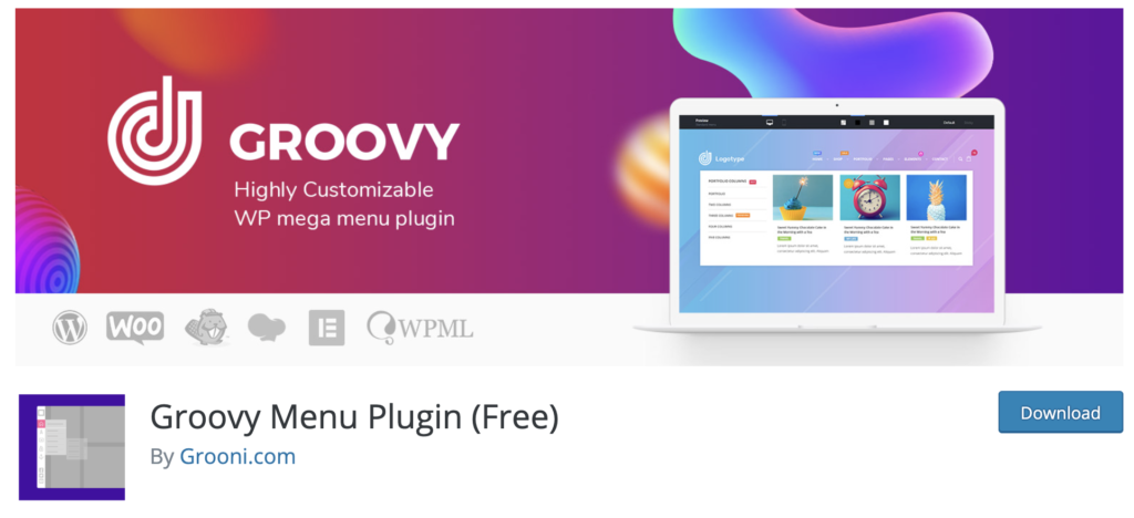 Groovy WordPress Mega Menu Plugins