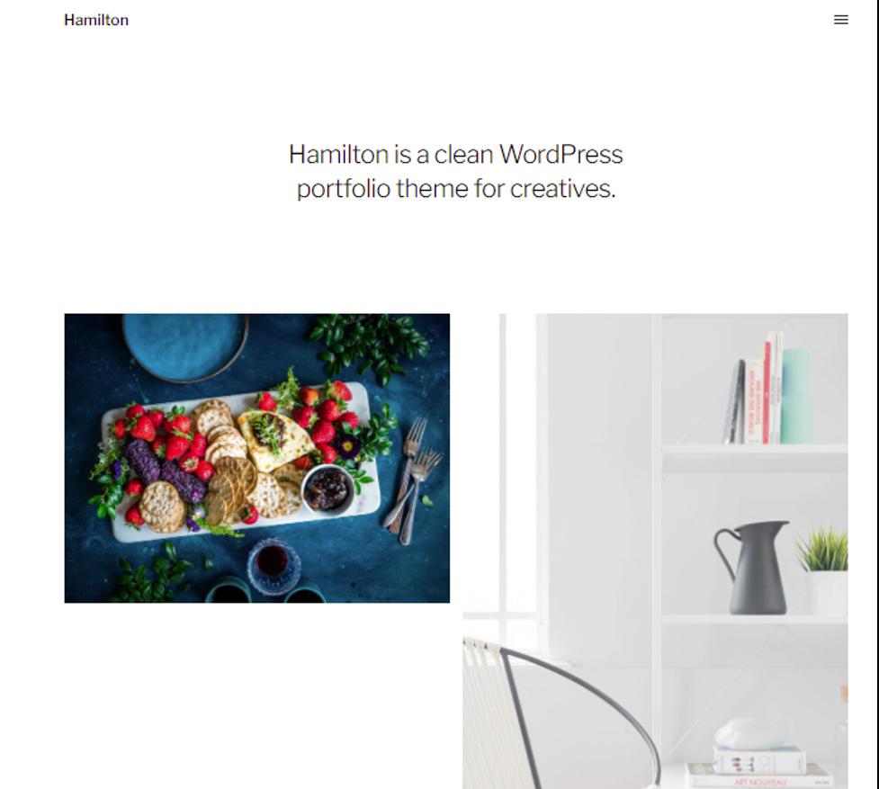 Hamilton wordpress art theme
