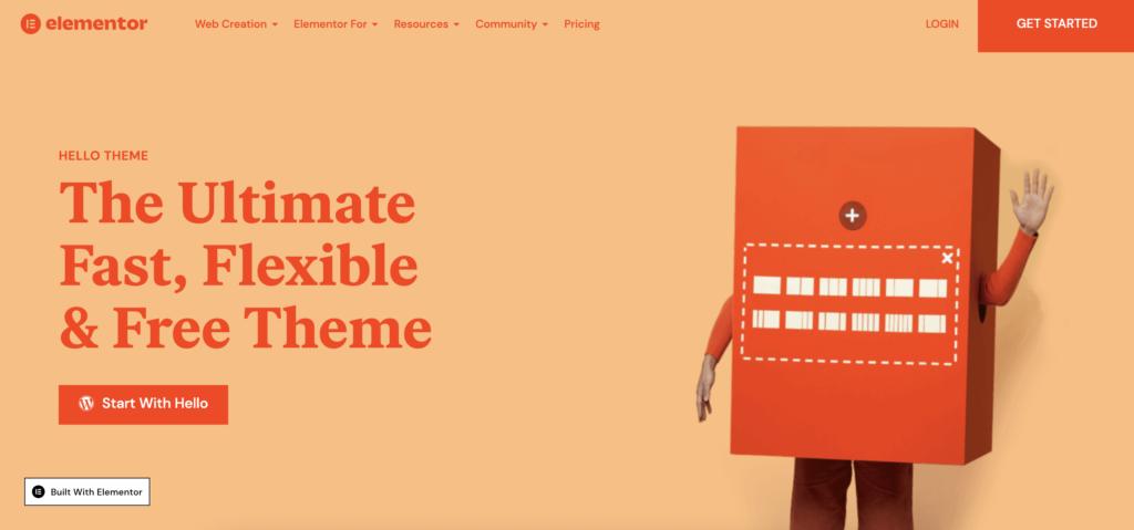 hello theme  blank WordPress theme