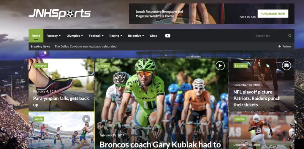 Jannah wordpress sport themes