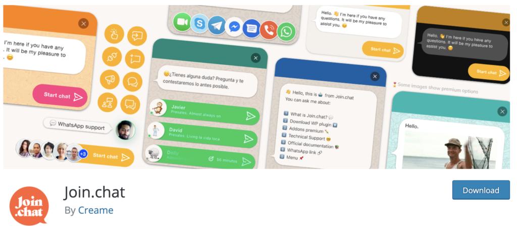 Join.chat whatsapp plugin for wordpress