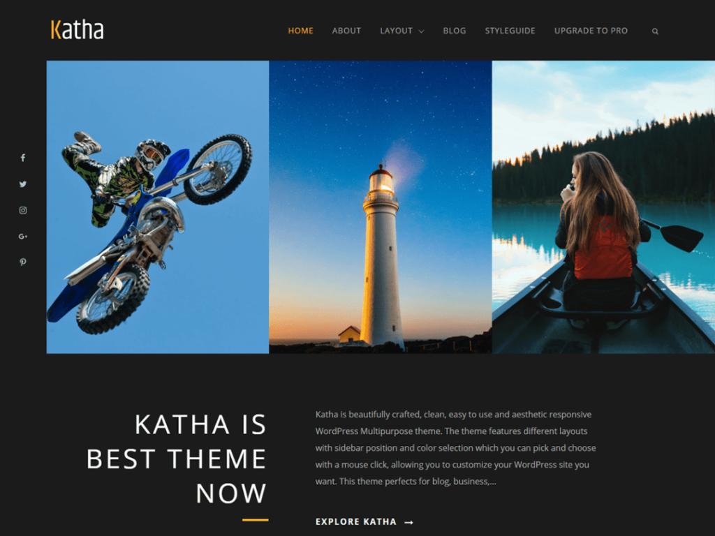 Katha WordPress personal website theme
