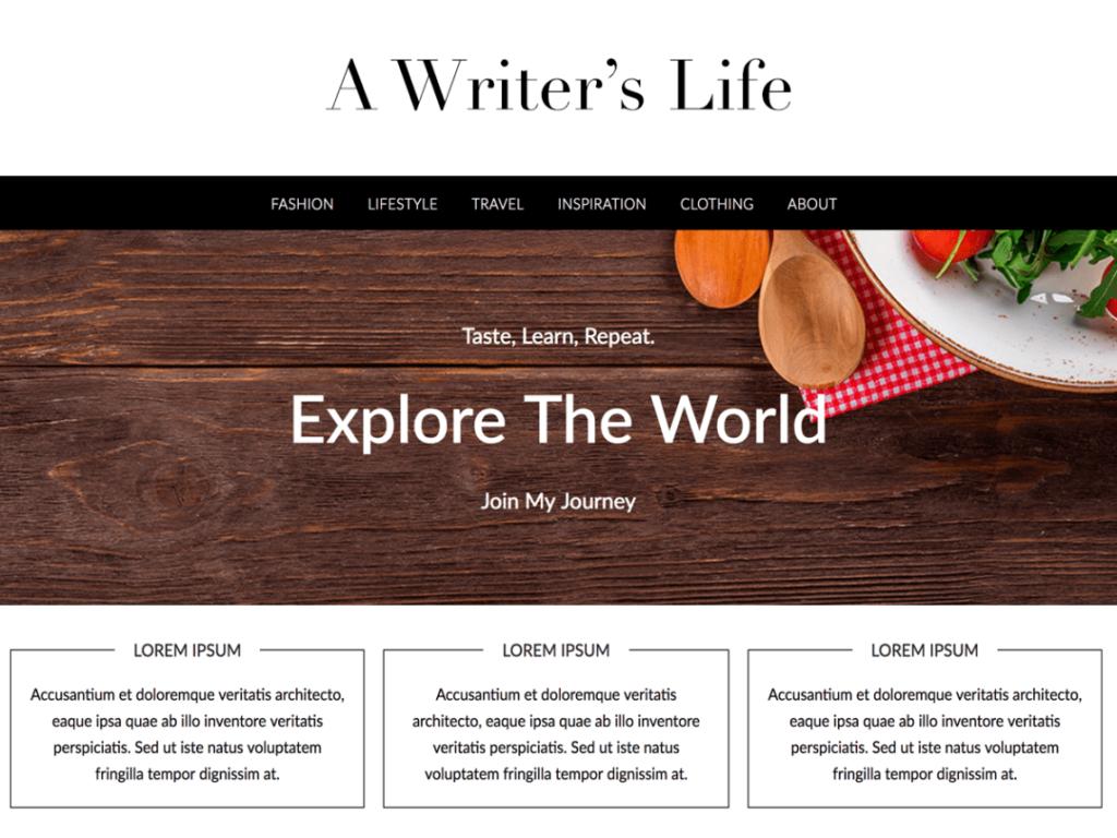 Lifestyle Press WordPress personal website theme