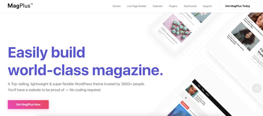 MagPlus WordPress review themes