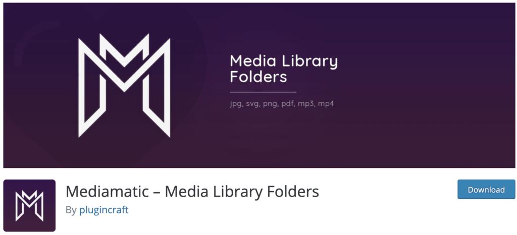 Mediamatic WordPress media library plugin