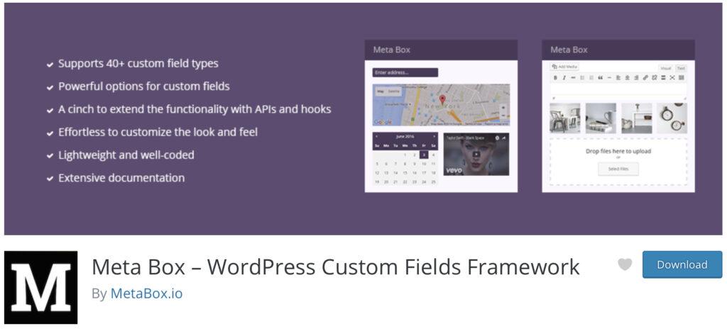 Metabox WordPress custom post type plugin