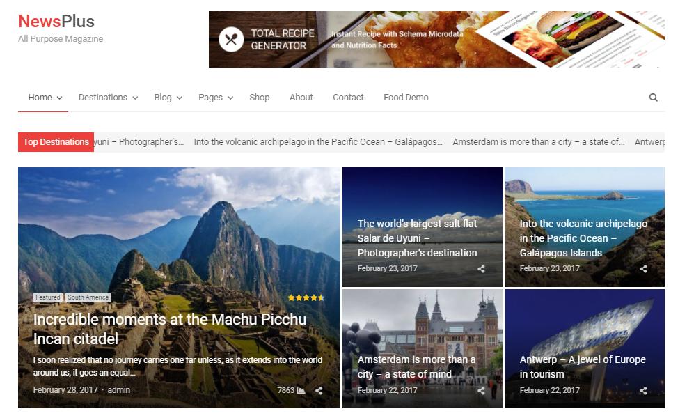 best WordPress news themes - NewsPlus