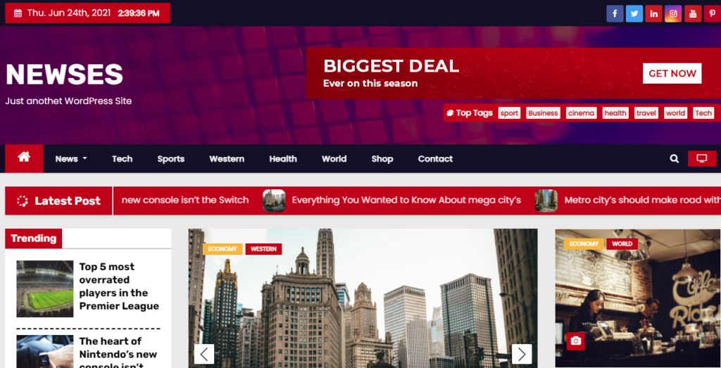 Newses best WordPress news themes