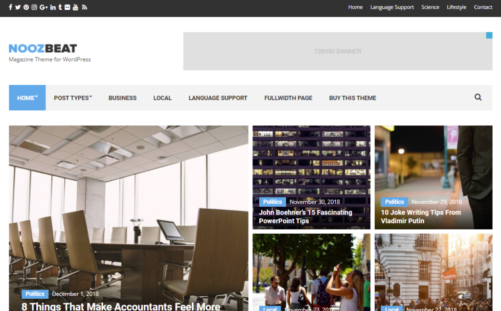 Nooxbeat best WordPress news themes