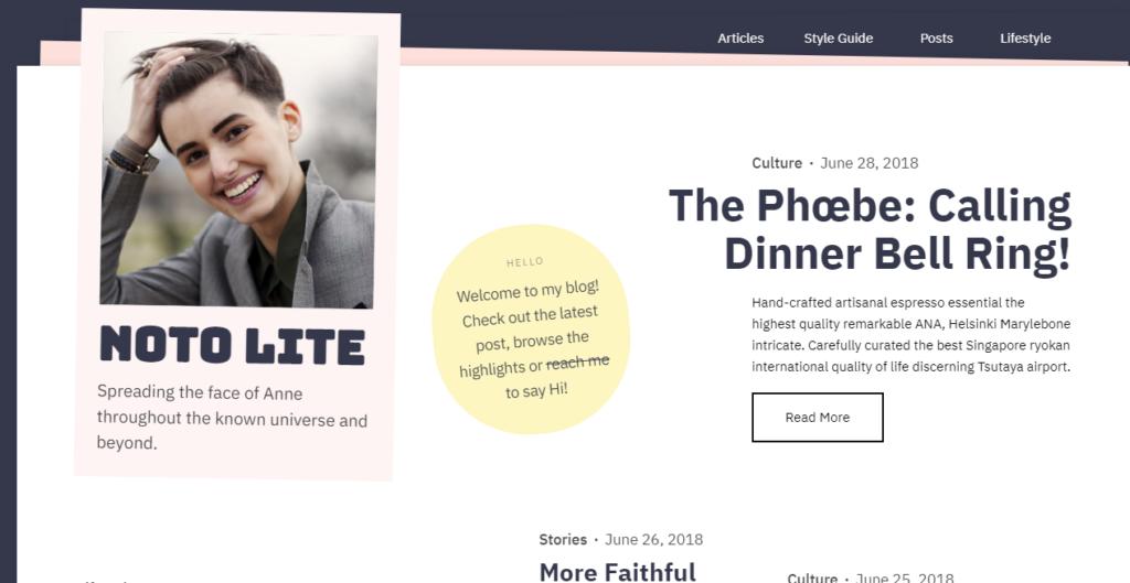 Noto WordPress portfolio theme