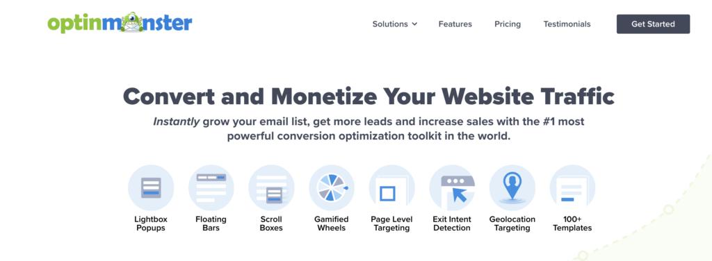 OptinMonster WordPress newsletters plugin