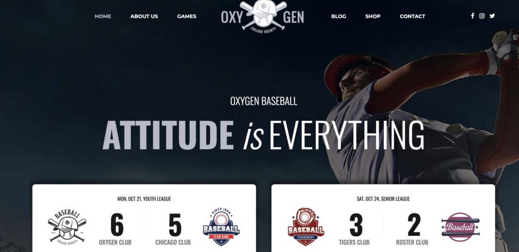 Oxigeno wordpress sport themes